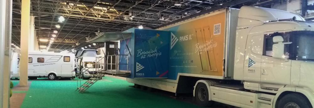 Utazás kiállításon a Paks II. interaktív kamion