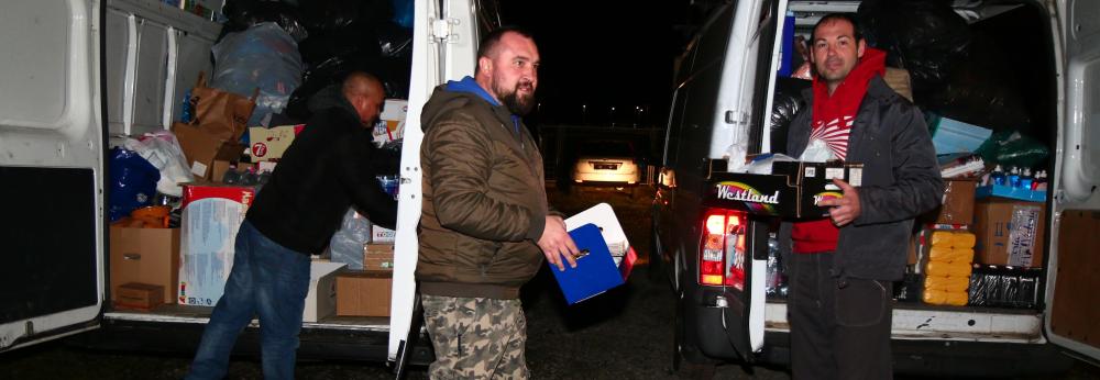 Célba ért a közel hét tonna Tolna megyei segélyszállítmány