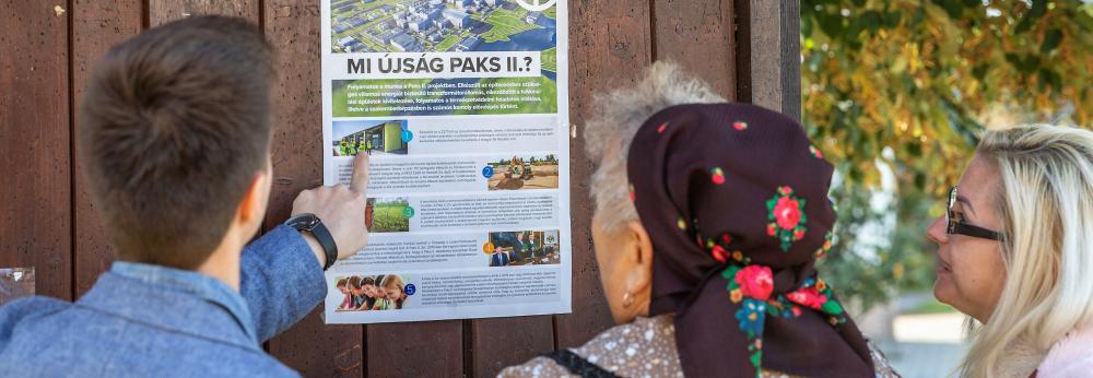 Folyamatosan bővül a Paks II. projekt tájékoztatási eszköztára